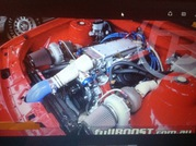 Twin turbo Holden 304 setup and VN SS with blown engine