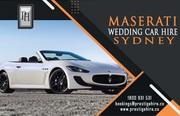 Maserati Wedding Car Hire Sydney